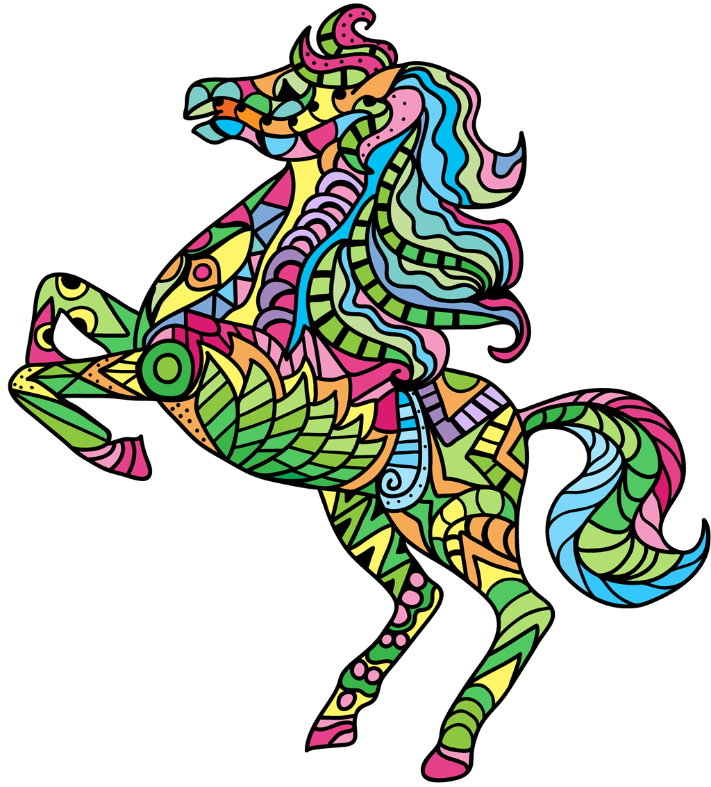 Horse Coloring Book for Adults for Android, iOS and Windows Phone ...