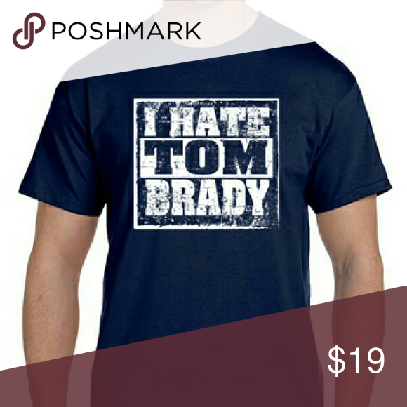 196d6bb25 I Hate Tom Brady Blue Patriots Football T-SHIRT A humorous shirt for fans  of the rest of the league. Nobody REALLY hates Tom Brady.  ) Gildan Tops  Tees ...