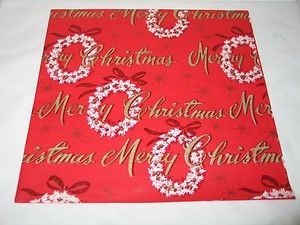 Vintage Dennison Merry Christmas Gift Wrap Wrapping Paper T27 | eBay