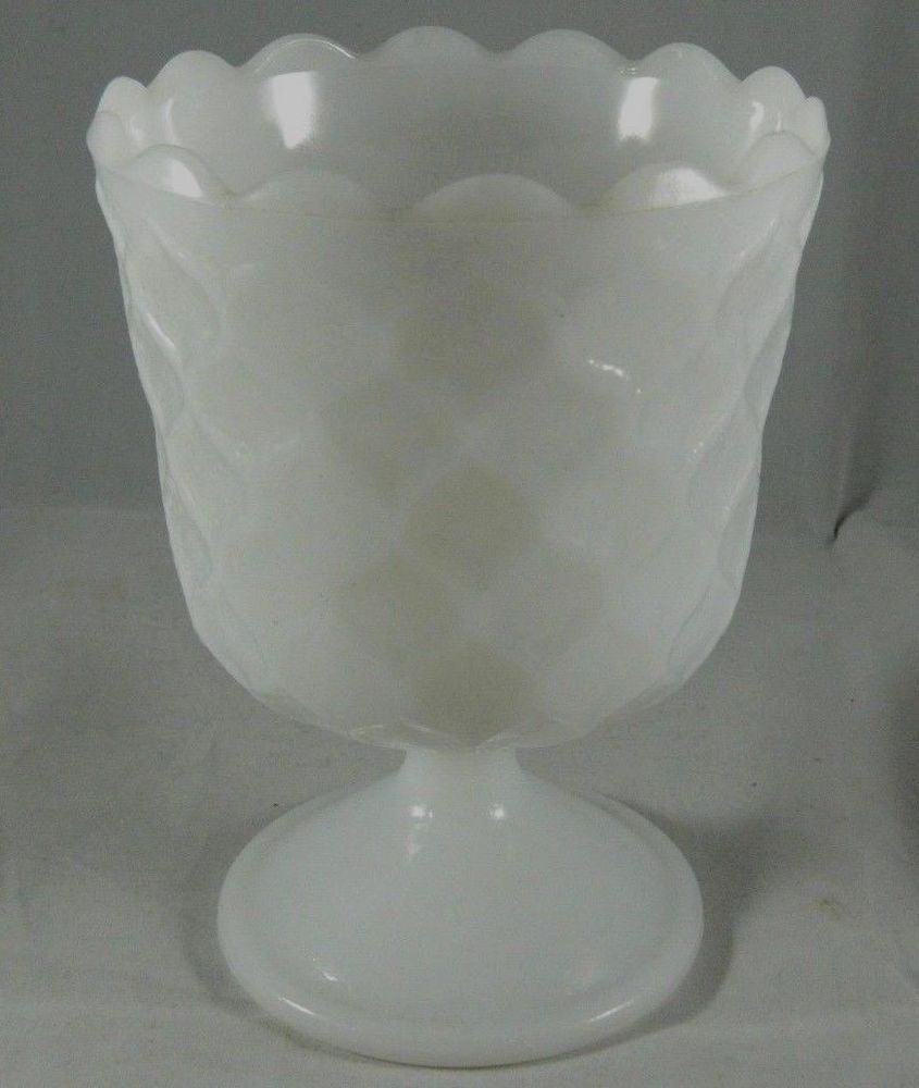 Vintage Milkglass Candy Dish Vintage Home Decor Late Mid Century Textured Dish