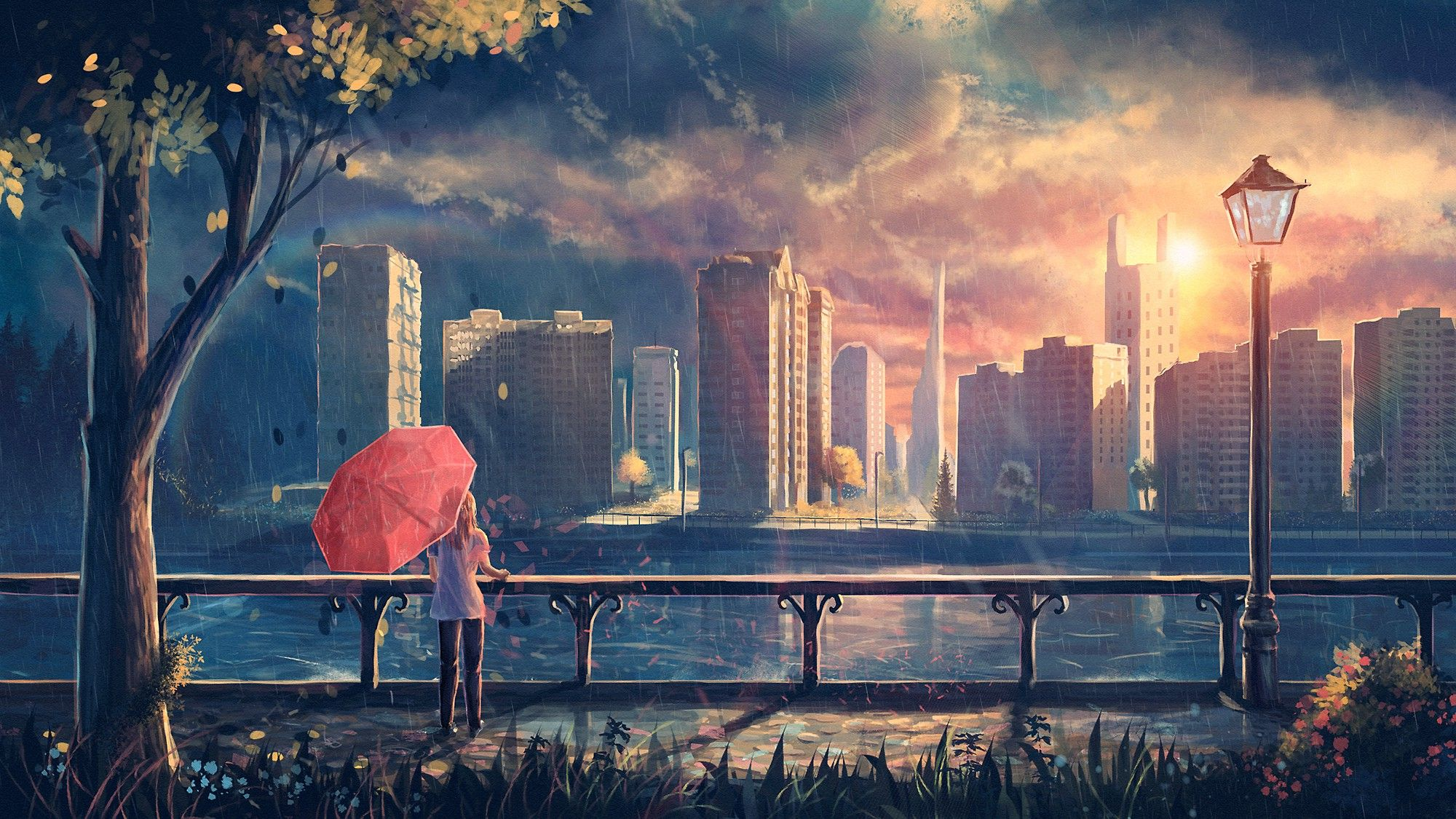 Rain City Wallpaper rain computer wallpapers, desktop backgrounds id: 1600×1000 rain