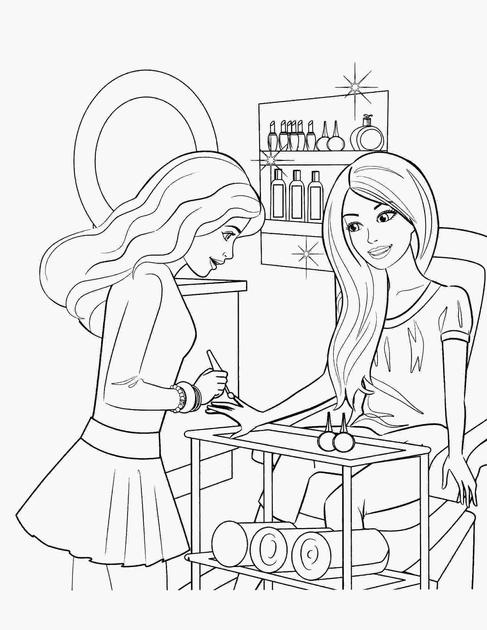 barbie drawings to color free printable barbie coloring ...