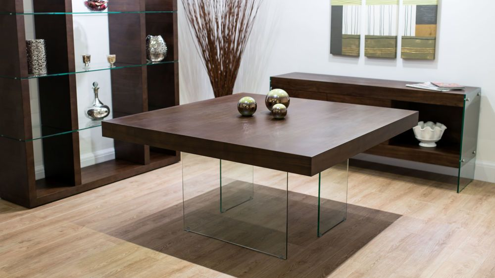 Dining Room Table Round Seats 8 Fascinating Aria Espresso Dark Wood And Glass Square Dining Table  Square Design Inspiration