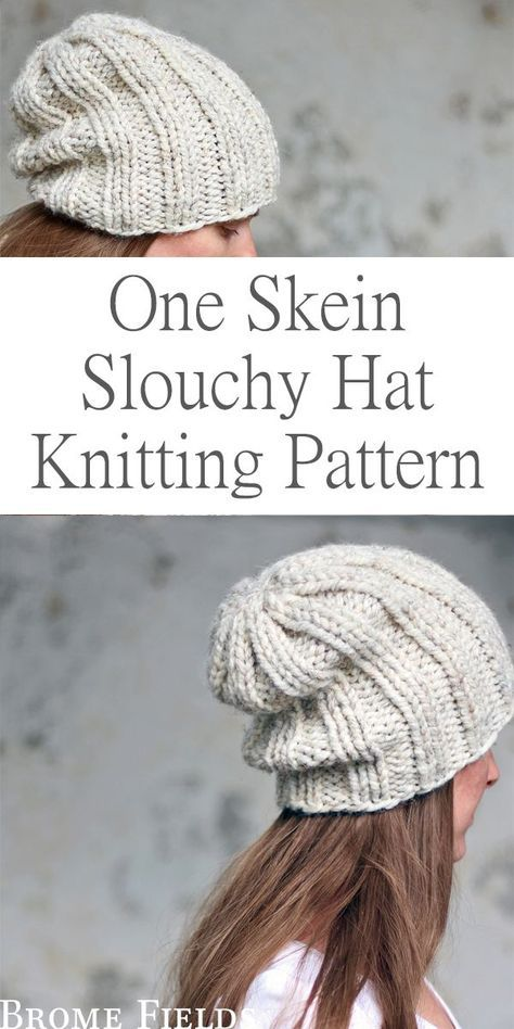 One Skein Hat Knitting Pattern : Daring by Brome Fields | calceta ...