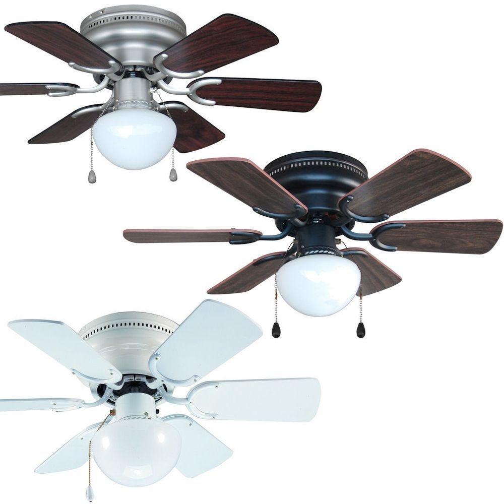 Details About 30 Inch Flush Mount Hugger Ceiling Fan W Light Kit