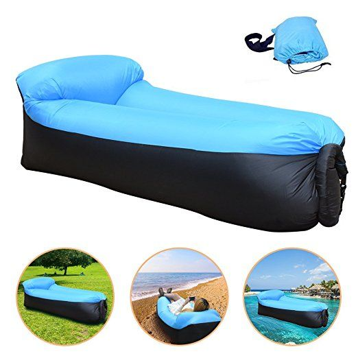 Iregro Portable Inflatable Sofa With Integrated Pillow Waterproof Air Sofa Inflatable Lounger Air Lounger Inflat Inflatable Sofa Bed Air Sofa Bed Air Lounger