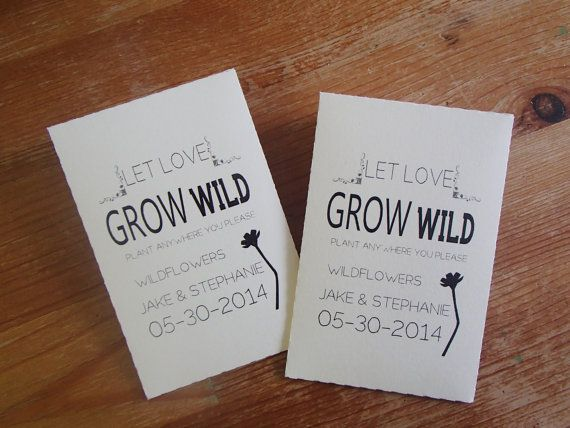 Custom Seed Packet Wedding Favor Let Love Grow Personalized DIY Plant With Favour Succulent Fill Your Own