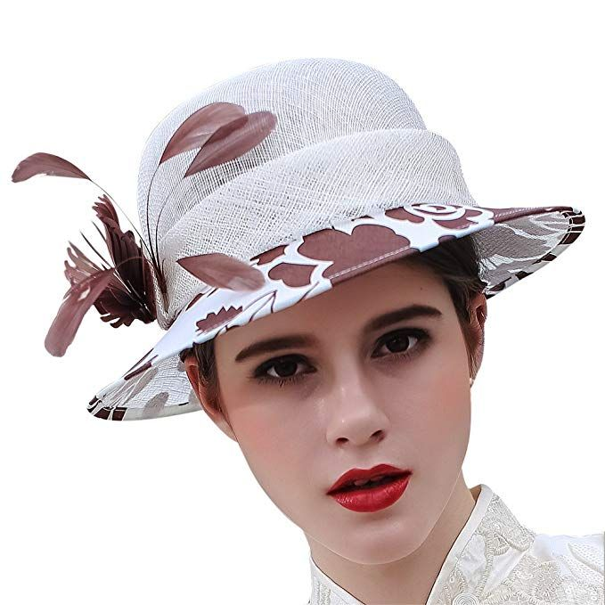 e8063188 June's Young Women Hats Lady Sinamay Derby Hat Weddding Party Fedoras Review