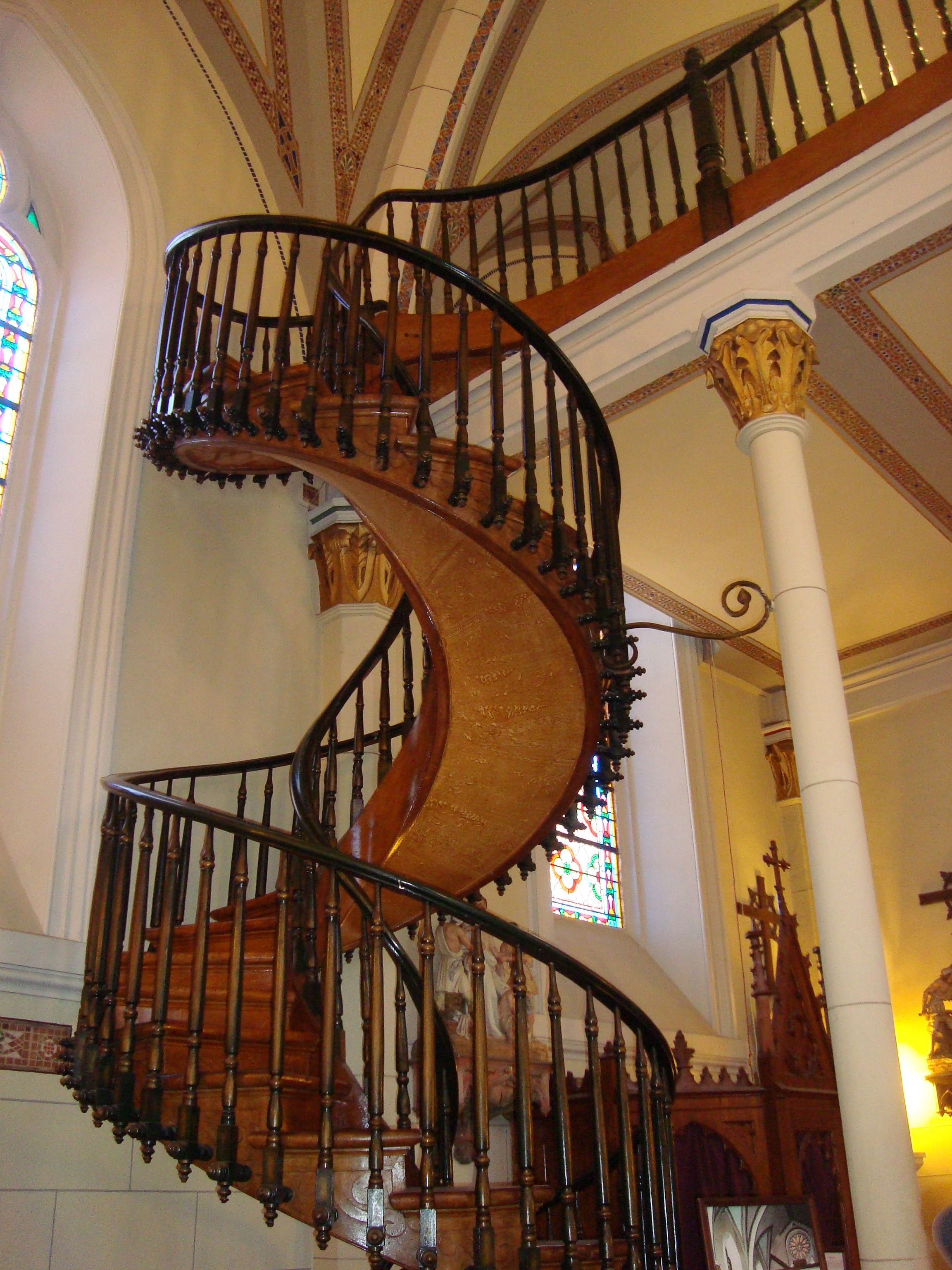 Best A Santa Fe Nm Staircase With No Center Support 640 x 480
