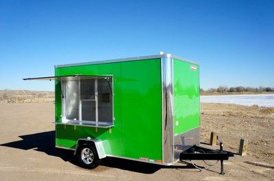7 X 12 Enclosed Food Truck Concession Trailer Sinks Electric