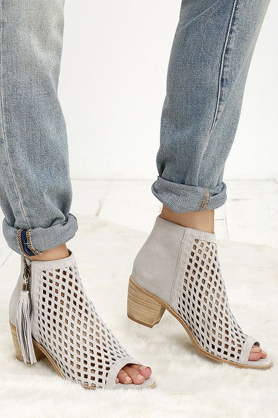 Sweeten up your shoe collection with the Matisse Indie Ivory Suede Leather  Cutout Ankle Booties!