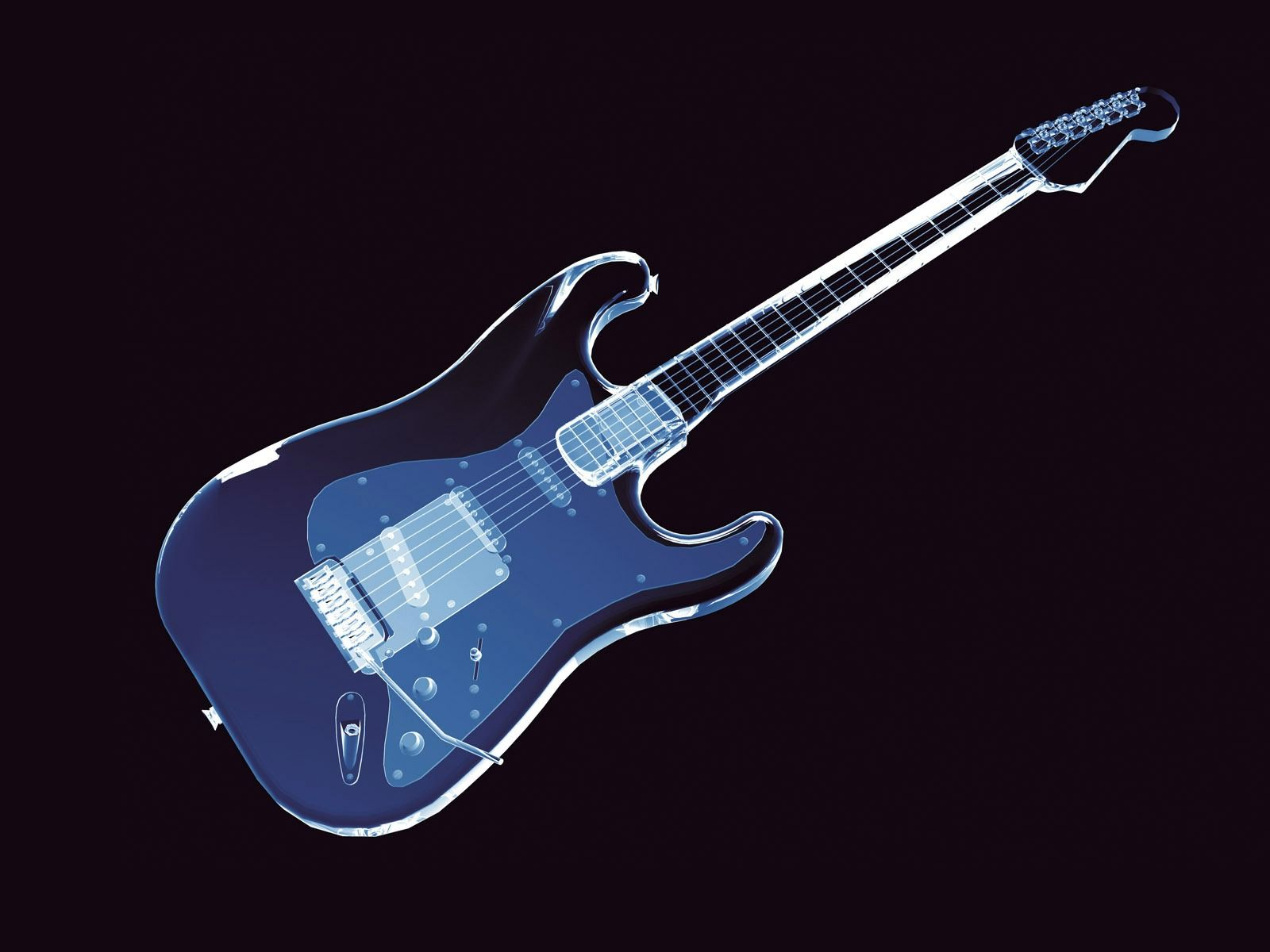Awesome Neon Guitar Wallpaper Abstract Hd 3d