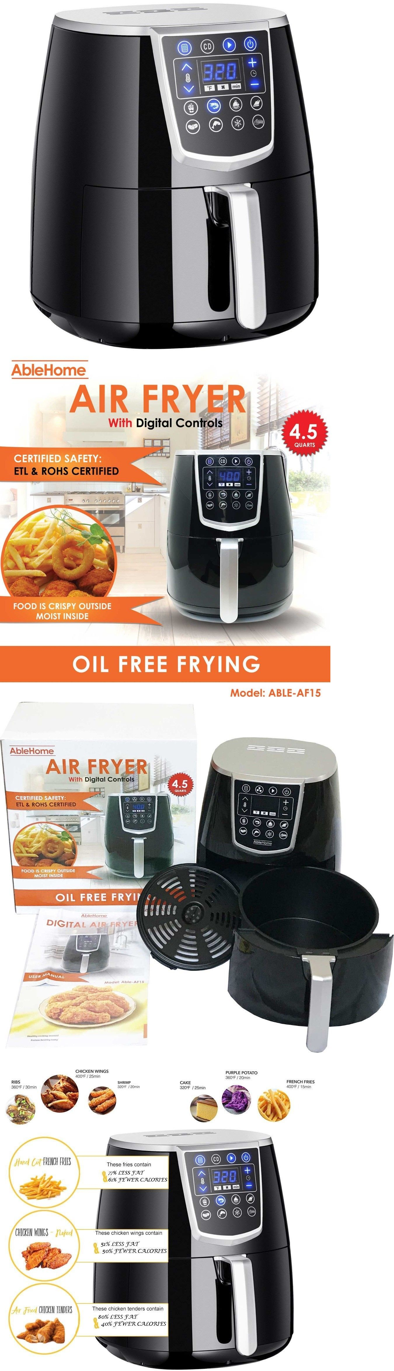 Infrared And Convection Ovens 150139 Electric Air Fryer 4 5 Qt