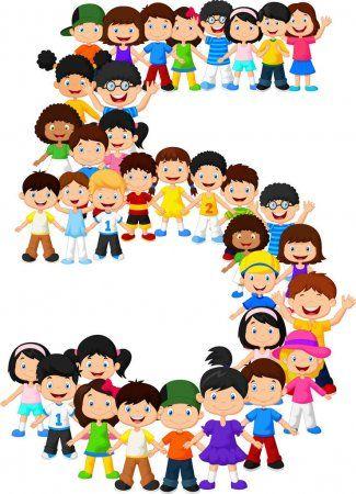 Photo of Los niños pequeños forman el número cinco