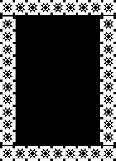 illustration of a fancy frame border