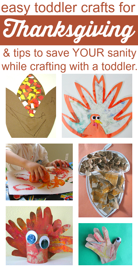 Easy Thanksgiving Crafts For Toddlers {and tips for parents too} - No Time For Flash Cards