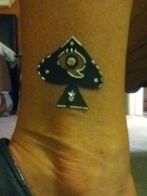 The Queen of Spades Tattoo is a ubiquitous symbol