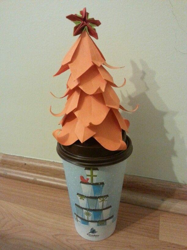 #origamichristmastree #origamichristmasstar #americano #cariboucoffee