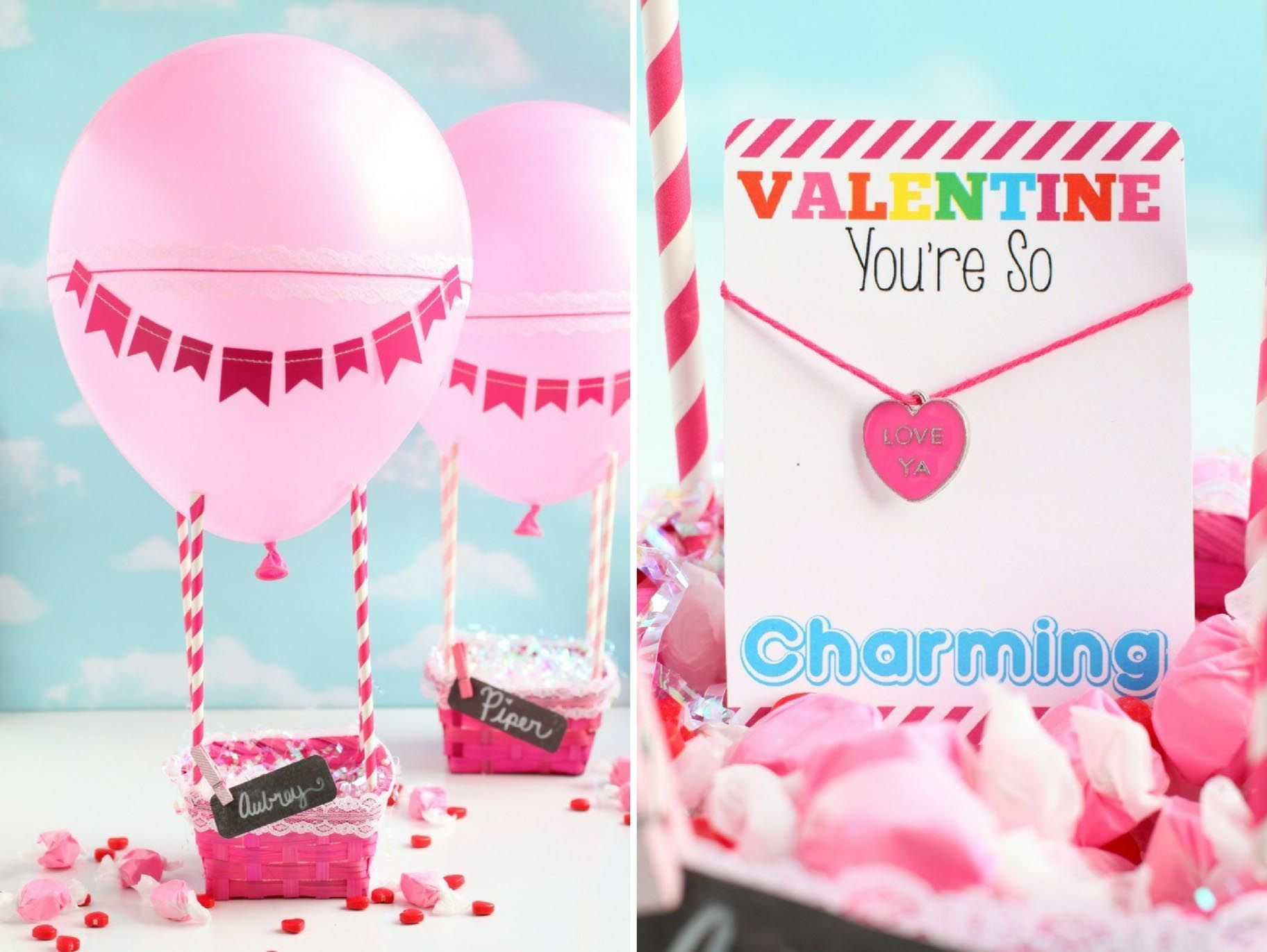Hot Air Balloon Valentine\'s Day Box | Valentine\'s Day | Pinterest ...