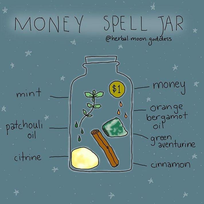 """Nellie on Instagram: """"Money spell jar from @herbal.moon.goddess"""