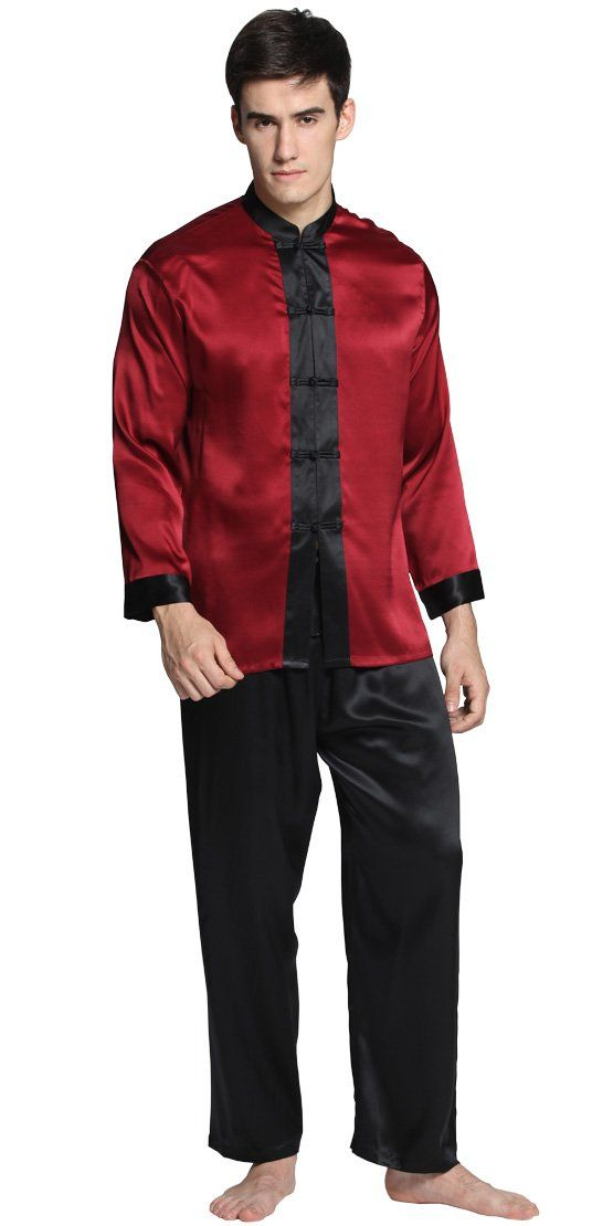 add94b740a 22 Momme Men Exotic Silk Pajamas Set 100% Pure Silk By LilySilk - L ...