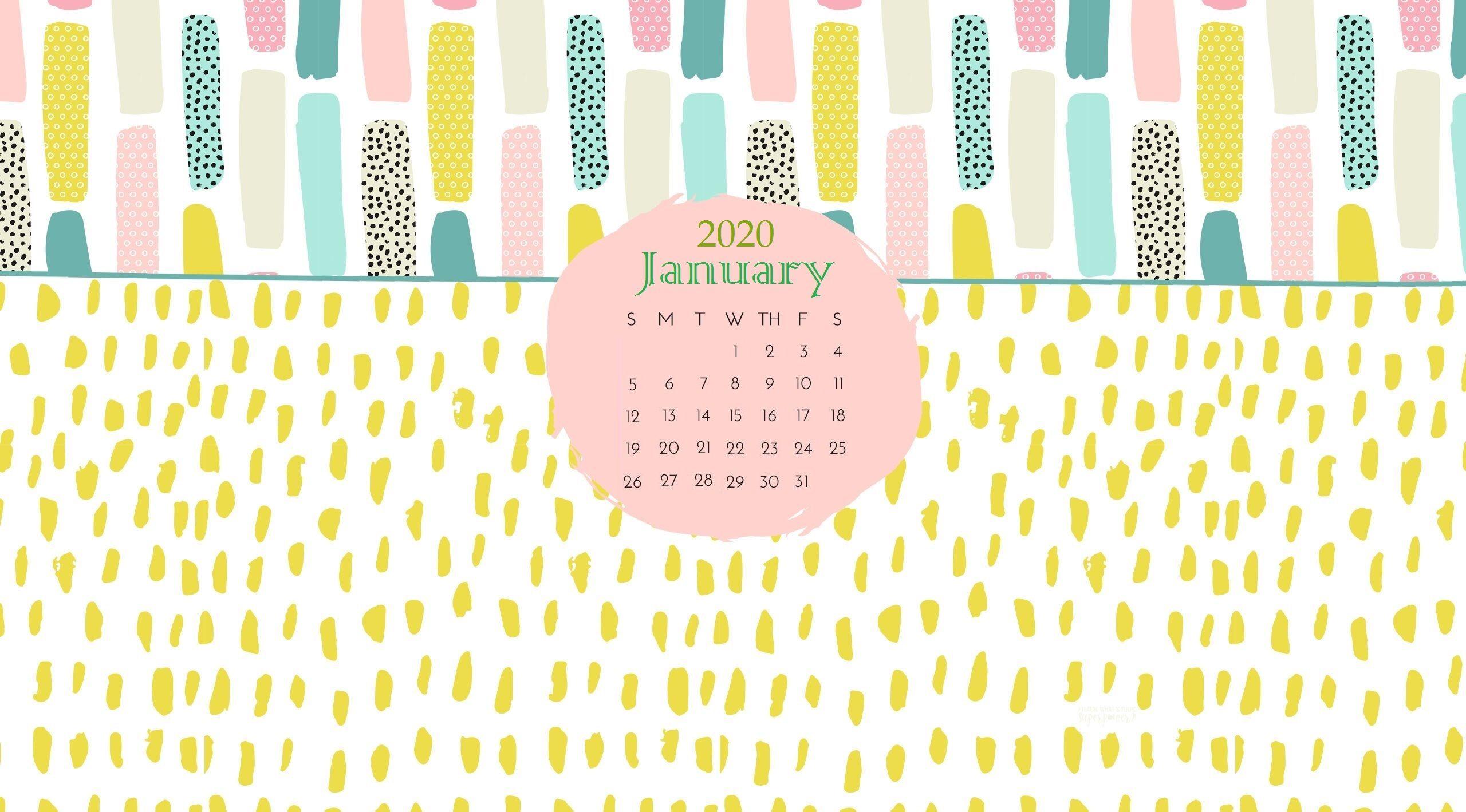 January 2020 Desktop Calendar Wallpaper Calendar Wallpaper January Calendar Desktop Calendar