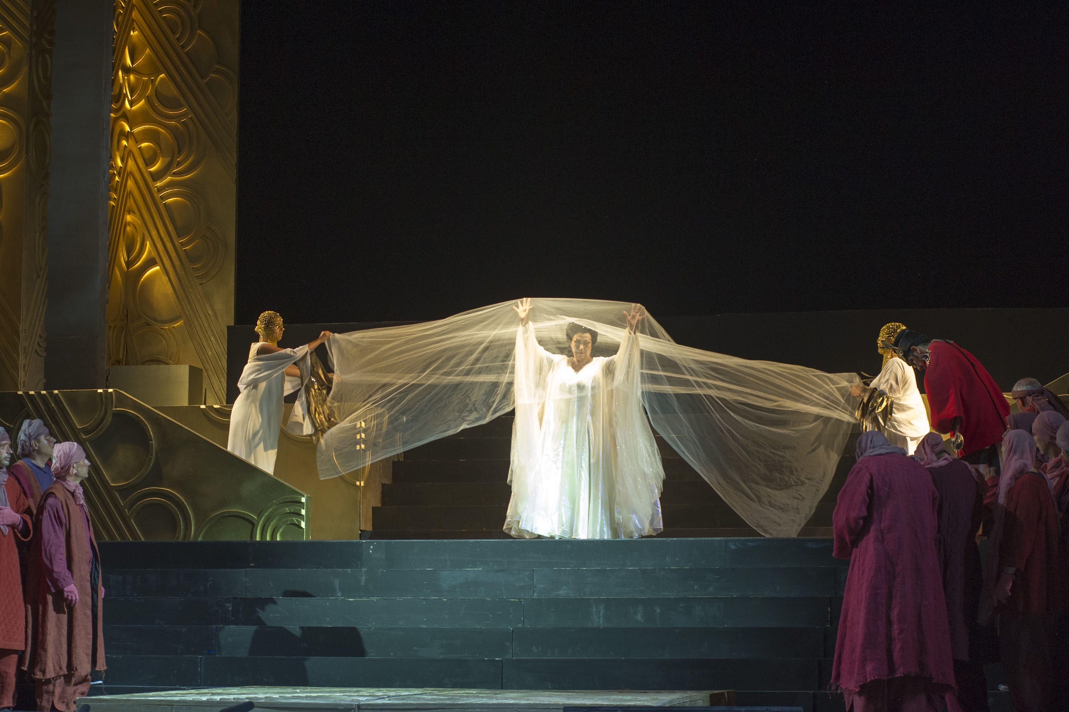 In foto Giovanna Casolla (Turandot)  Foto di Giorgio Andreuccetti