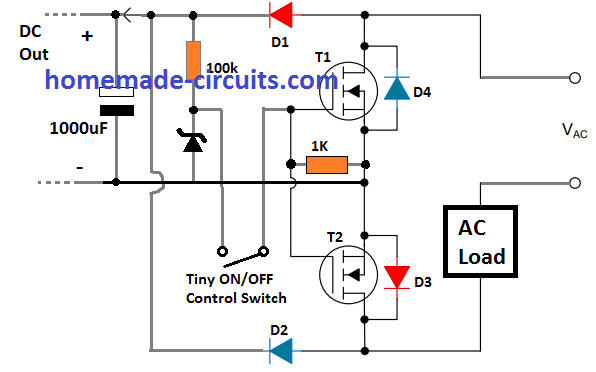 Solid State Relay Ssr Circuit Using Mosfets Homemade Circuit Projects In 2020 Circuit Projects Relay Circuit
