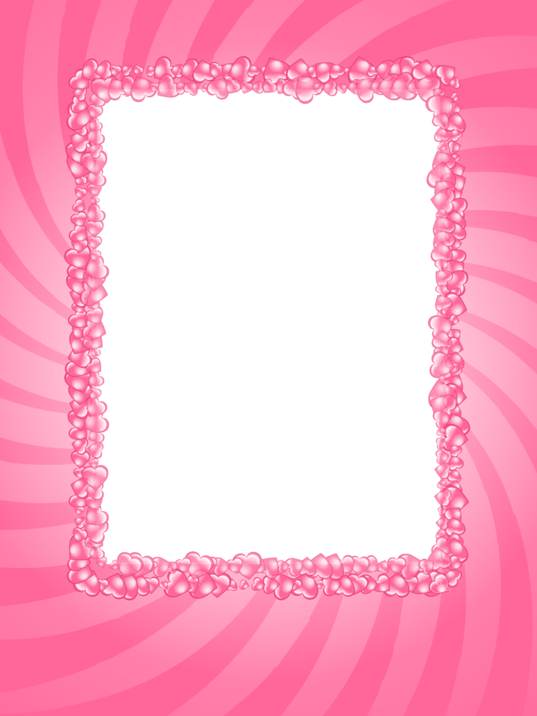 Pink Frame Pink Hearts Valentine Frame By Flashtuchka On