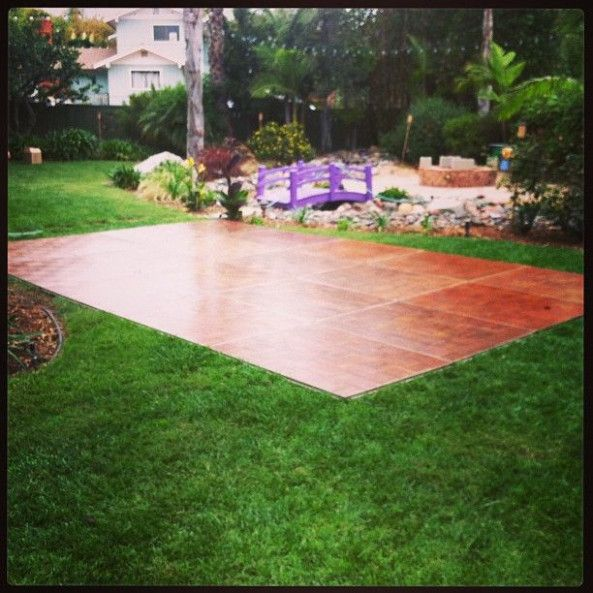 Simple Outdoor Wedding Reception Ideas: Backyard Wedding With With A 15' X 20' Dance Floor! -Oak