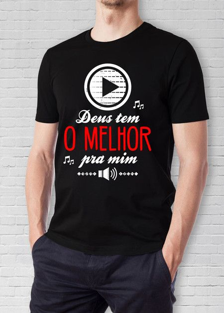 001d2f1cde Camiseta Deus Tem o Melhor | blusa força jovem | Frases para ...