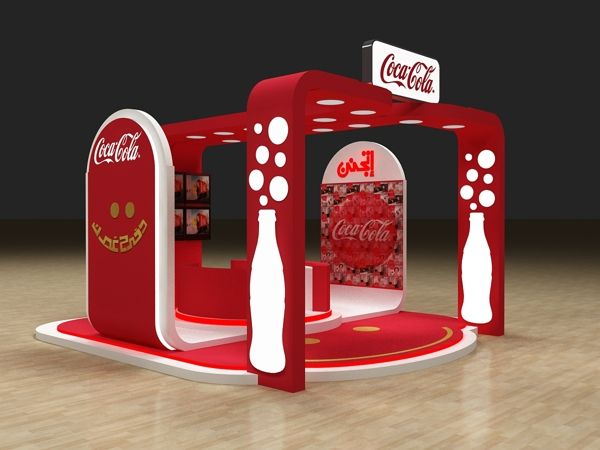Exhibition Stall Design Uk : Cocacola activation booth by hossam moustafa via behance