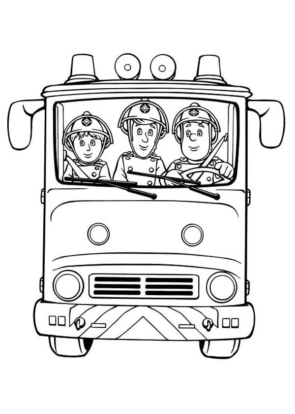 Fireman Sam, : Fireman Sam and Friends on Fire Trucks Coloring ...
