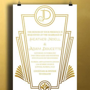 Art Deco Birthday Invitations Best Gatsby Invitations