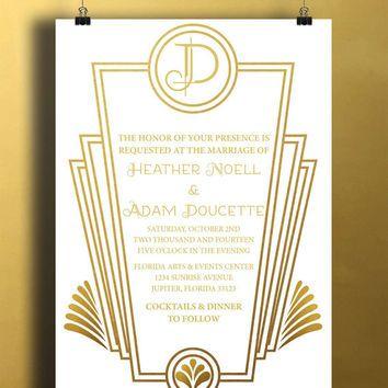 Instant DownloadWhite Gold Art Deco Great Gatsby Vintage Diy