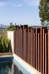 13 neueste und elegante Schmiedeeisen Pool Zaun Ideen - Wohn Design #zaunideen