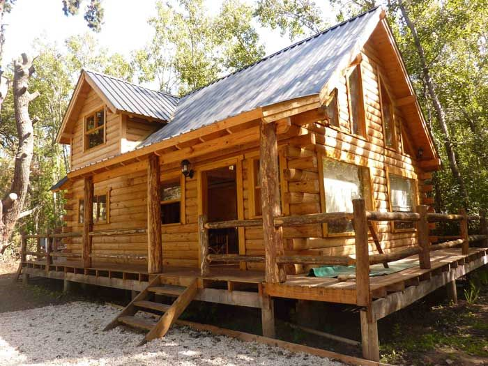 Empresa constructora de caba as en troncos macizos o - Estructura casa madera ...