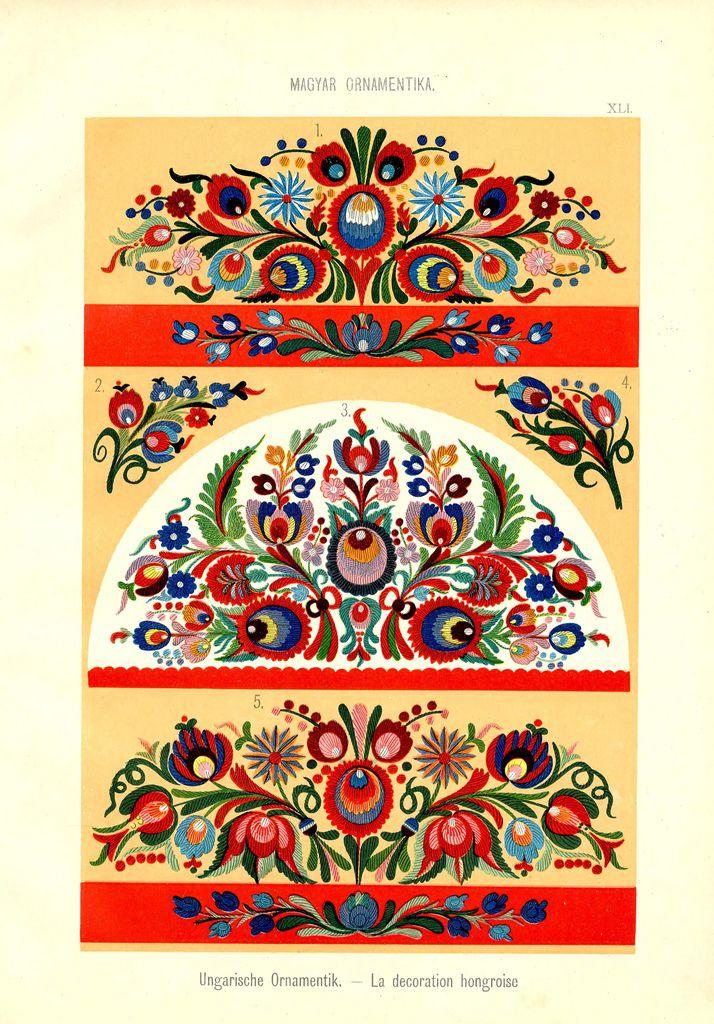 Magyar ornament, Hungarian ornament, | Folk motifs | Pinterest ...