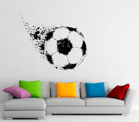 Soccer Ball Wall Decal Football Vinyl Stickers by