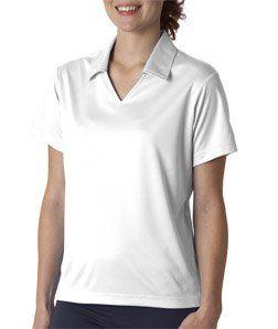 2ade986e8 UltraClub Women's V-Neck Collar Sport Polo Shirt, White, X-Small by  UltraClub. $31.46