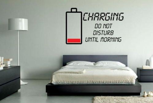 Charging Recharging Teenage Wall Art Sticker Vinyl Decoration