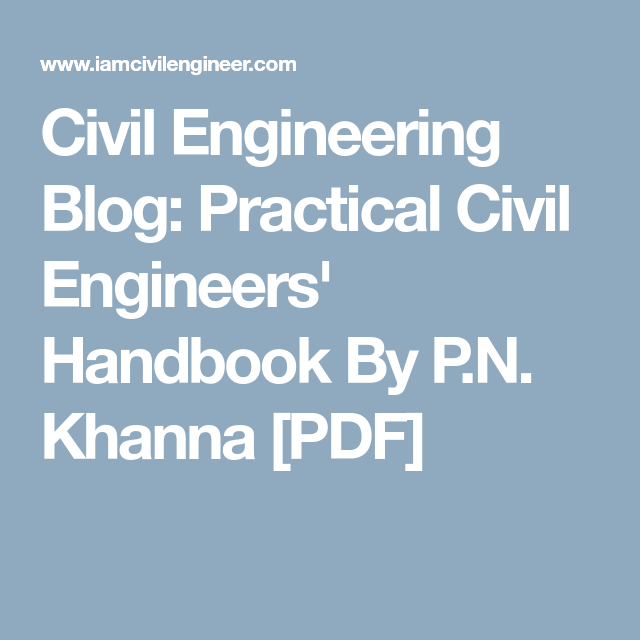 CIVIL ENGINEERING HANDBOOK KHANNA EPUB