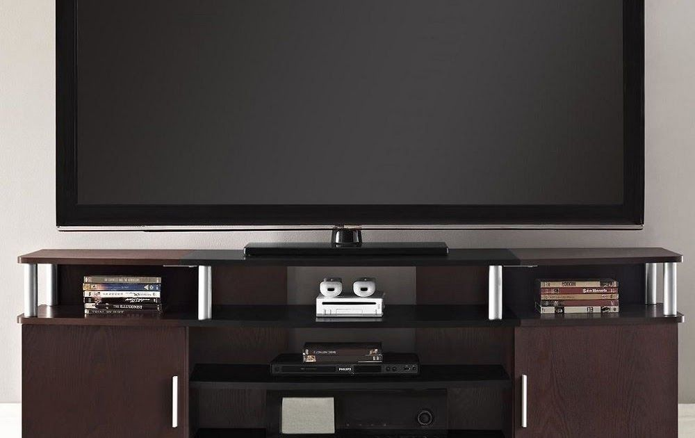 Media TV Stand Entertainment Center Flat Screen TVs Wood Console