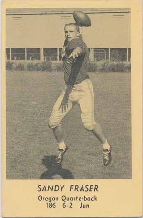 1958 Oregon Junior Quarterback Sandy Fraser Www Sportingoregon Com Quarterback Fraser Football