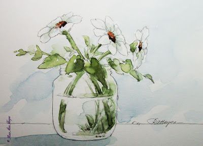 Watercolor Paintings By Roseann Hayes Floral Painting Flower