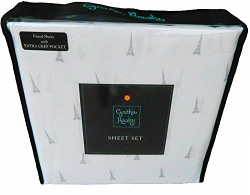 4 Piece King Size Paris Eiffel Tower Sheet Set >>> Click image for more details.