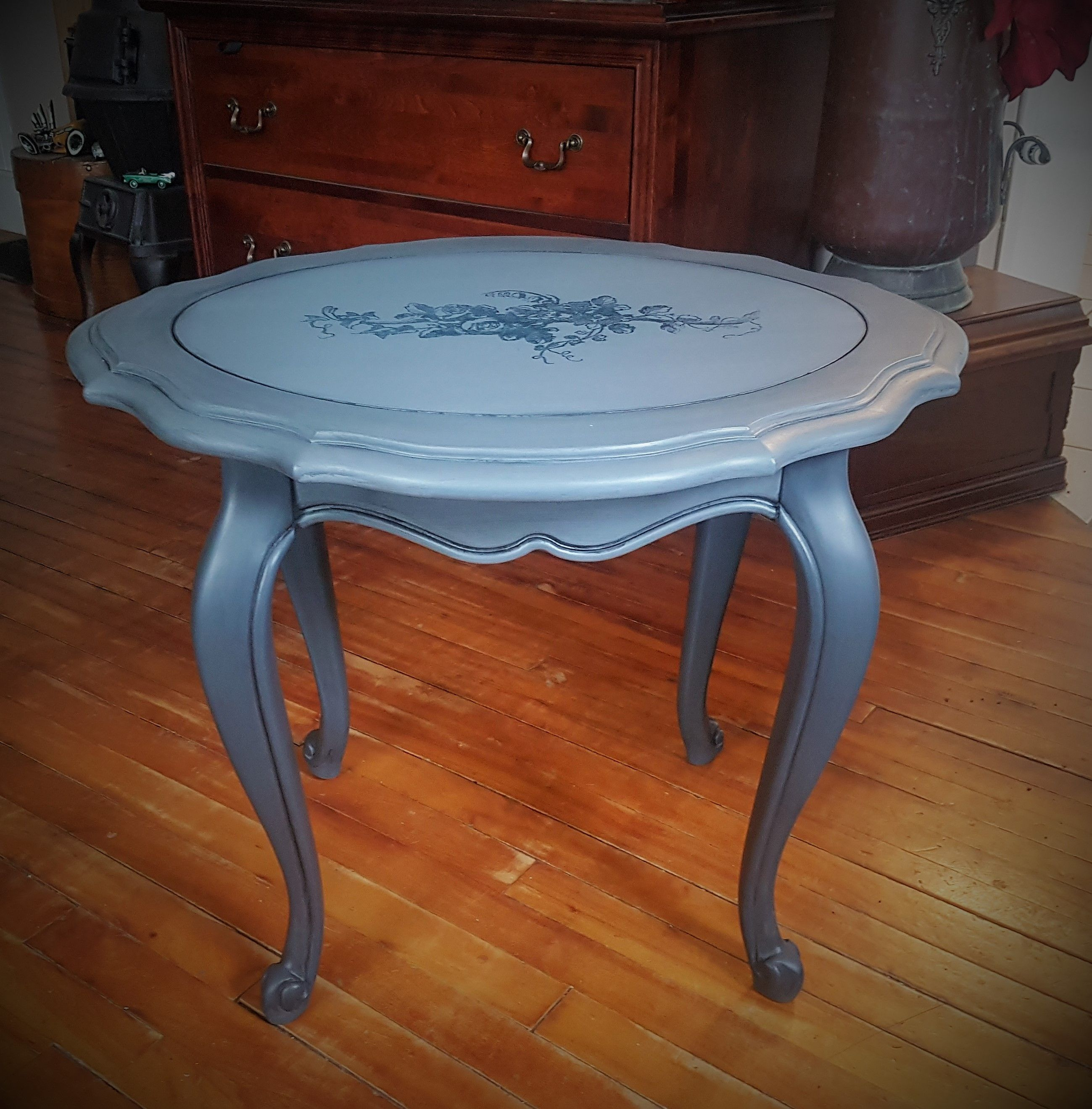 Solid Wood End Tables From The Strathroy Furniture Company Chalk