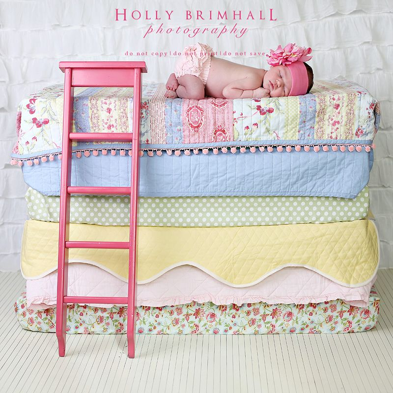 Princess and the Pea. I loooove this idea but i need to stop my prop spending bc I have no idea how I would explain this to my hubby to store this all for one newborn shot...maybe someday.