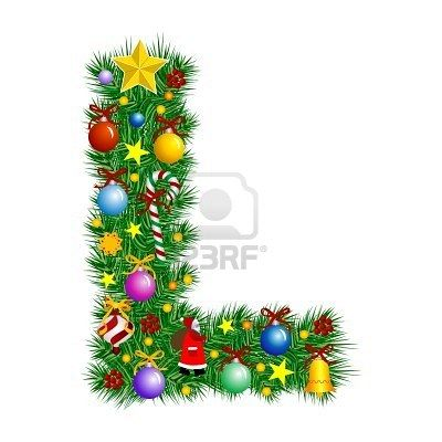 Letter L Christmas Tree Christmas Tree Decorations Christmas Alphabet Letter L