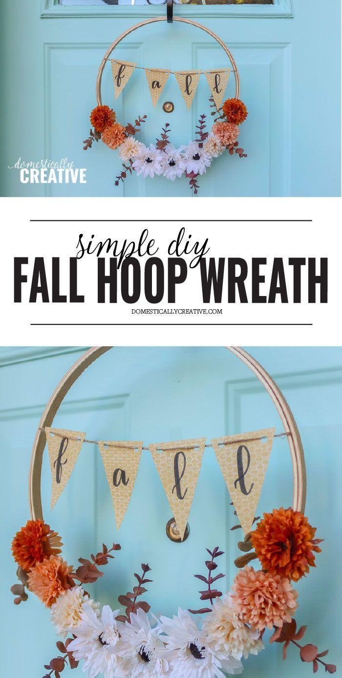 Photo of Simple DIY autumn hoop wreath